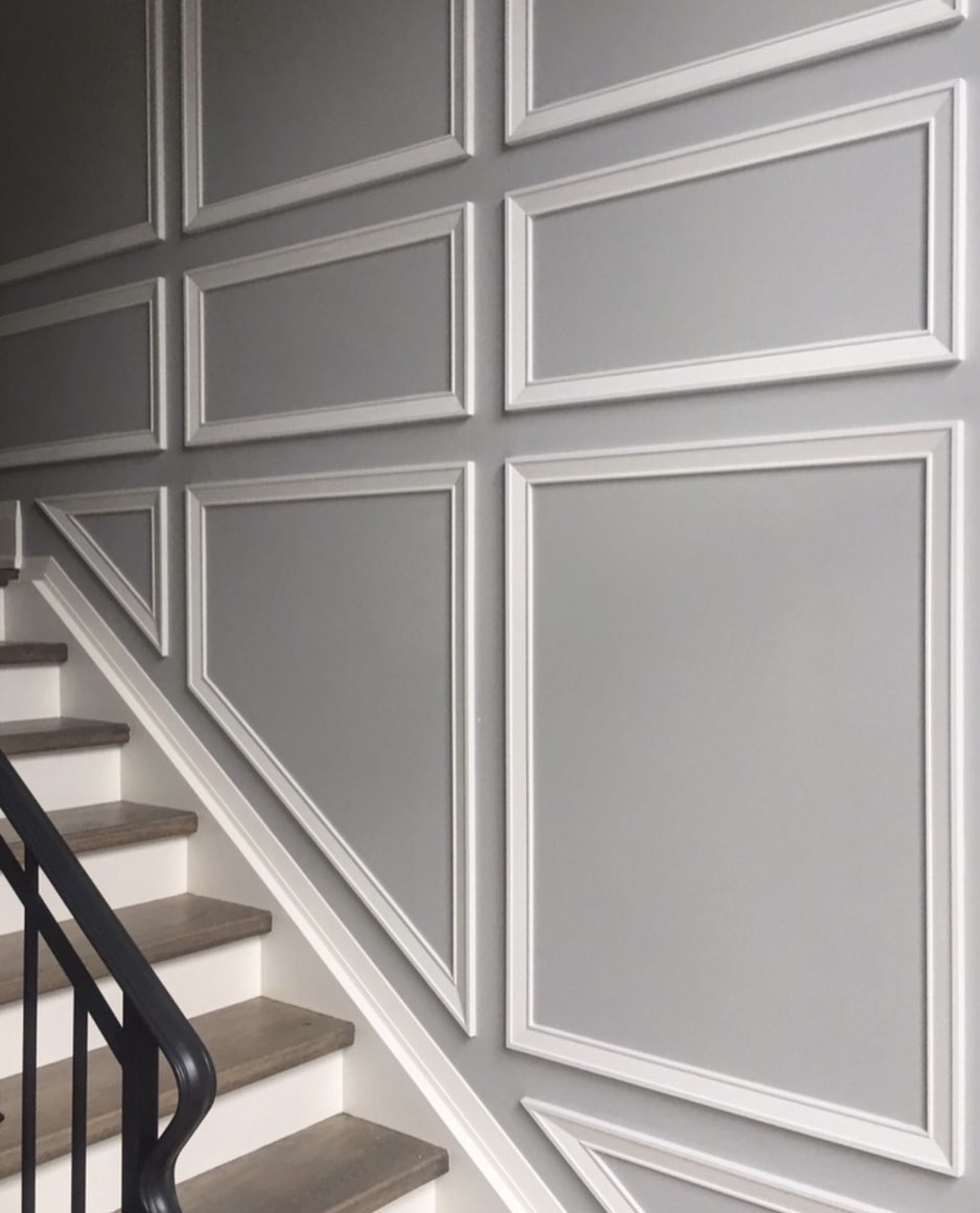 Elegant wainscoting design with millwork supplied by Biiibo.